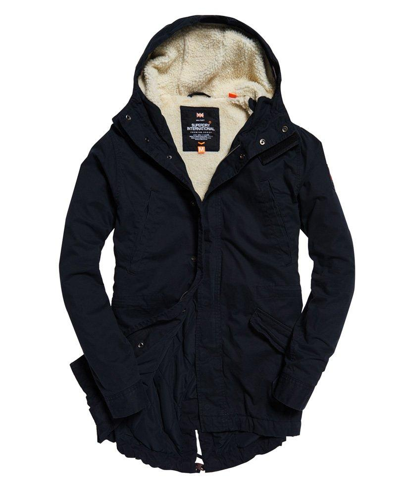 Superdry Cotton Winter Rookie Military Parka Jacket in Navy (Blue) for Men