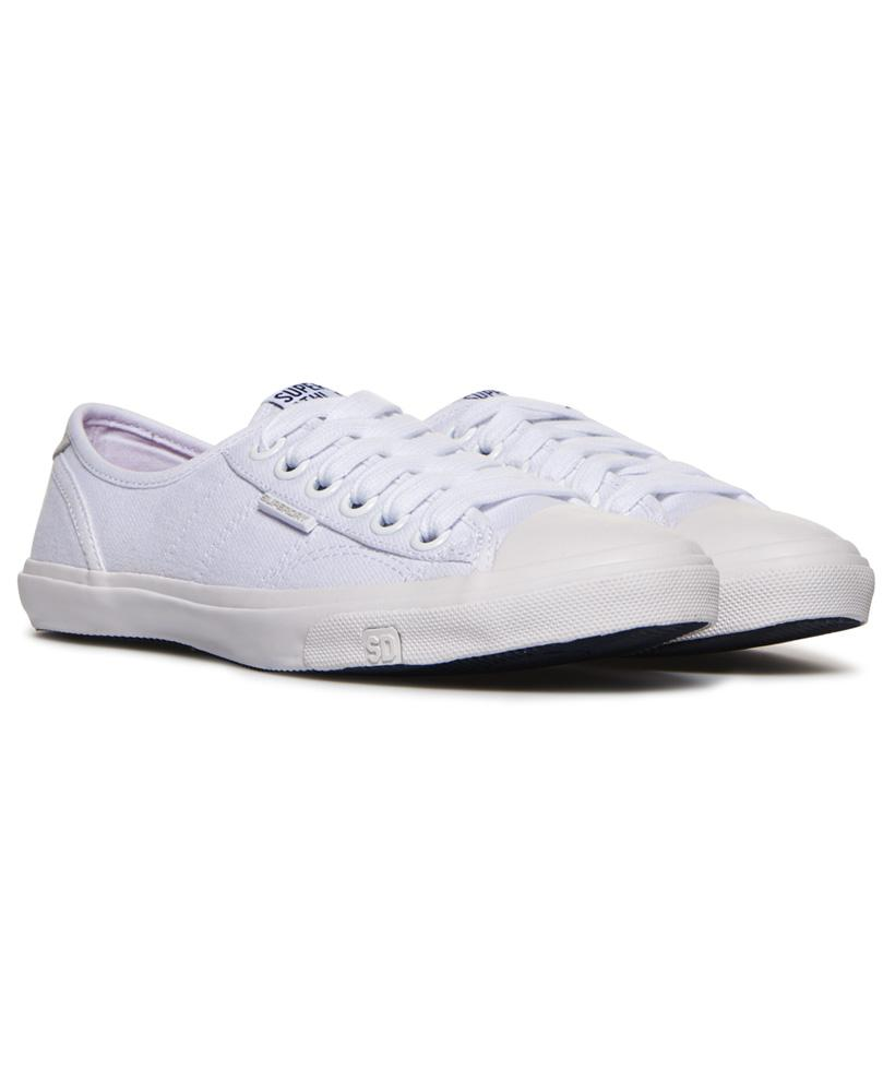 Superdry Canvas Low Pro Sneakers in White
