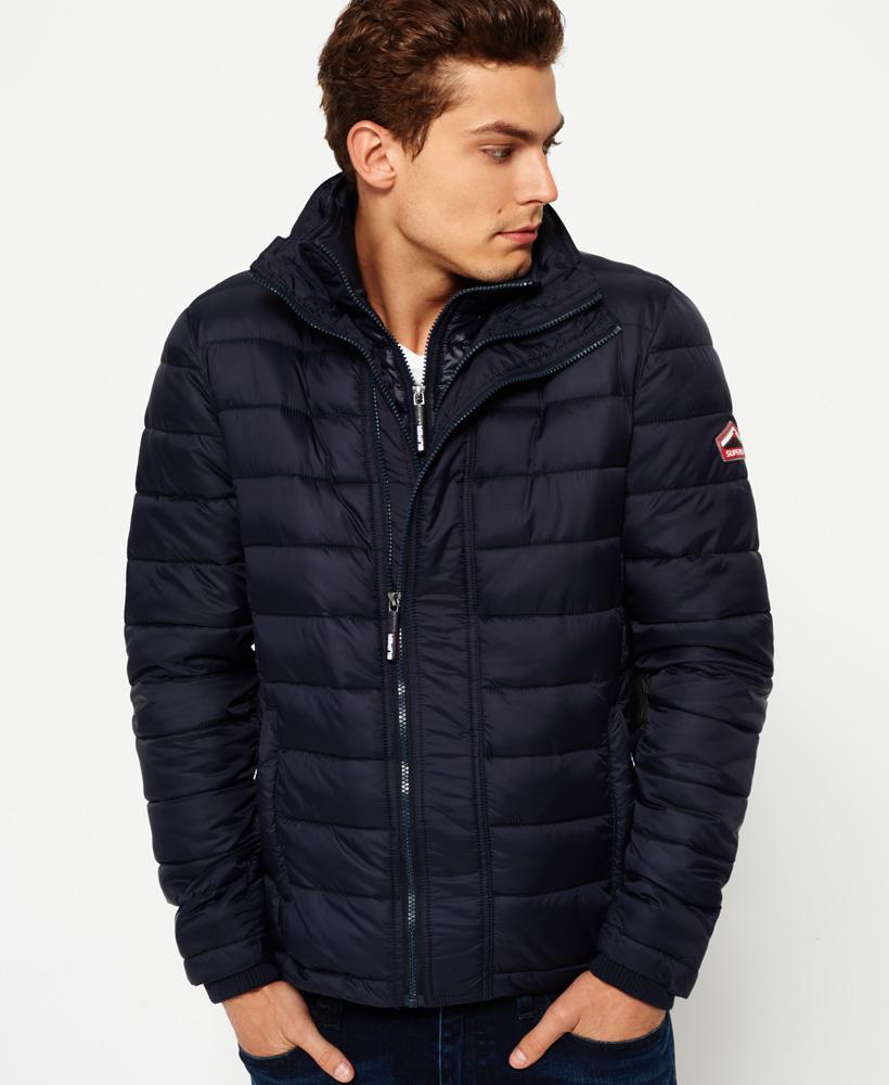New SUPERDRY Fashion Men/'s Black Blue FUJI Triple Zip Winter Bomber Jacket Coat