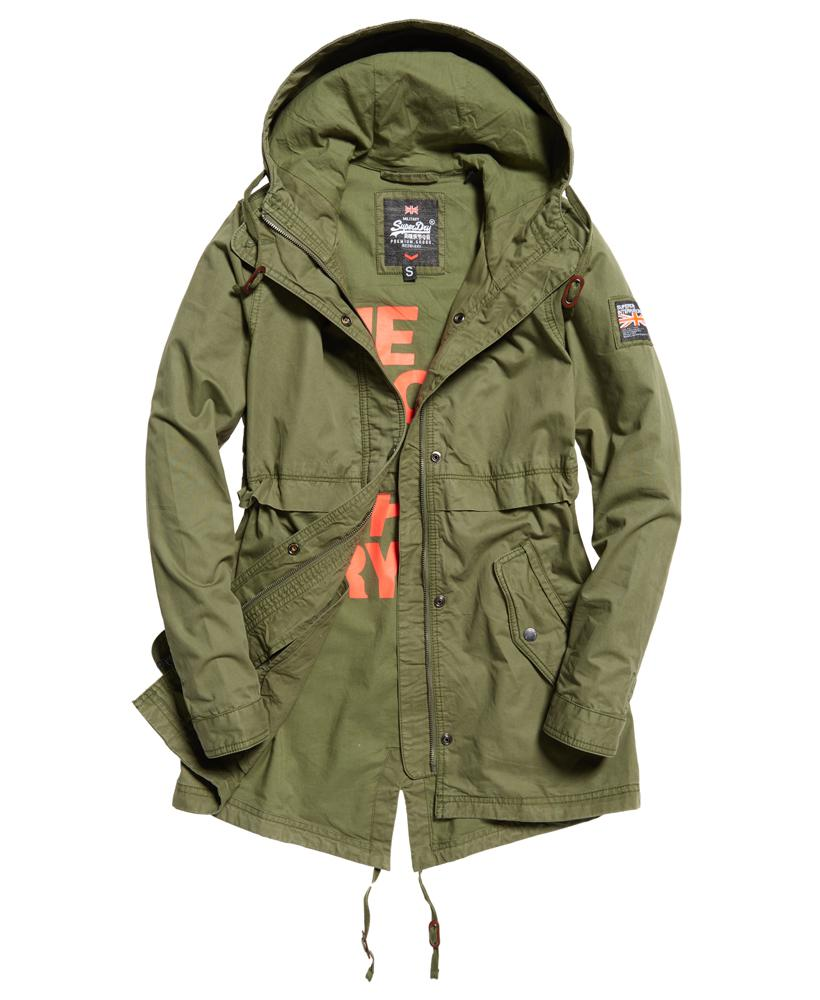 Superdry Classic Rookie Fishtail Parka Jacket In Green Lyst