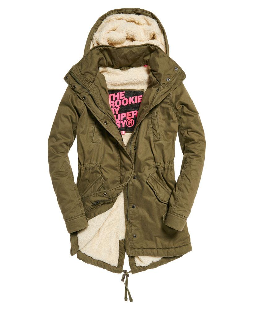 Superdry Winter Rookie Military Parka Jacket In Green
