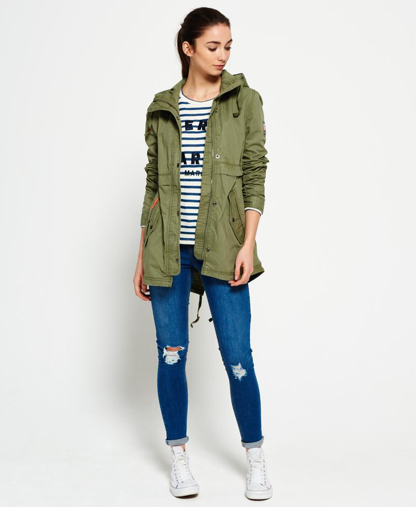 cad1a68d3c885 Superdry Classic Rookie Fishtail Parka Jacket in Green - Lyst
