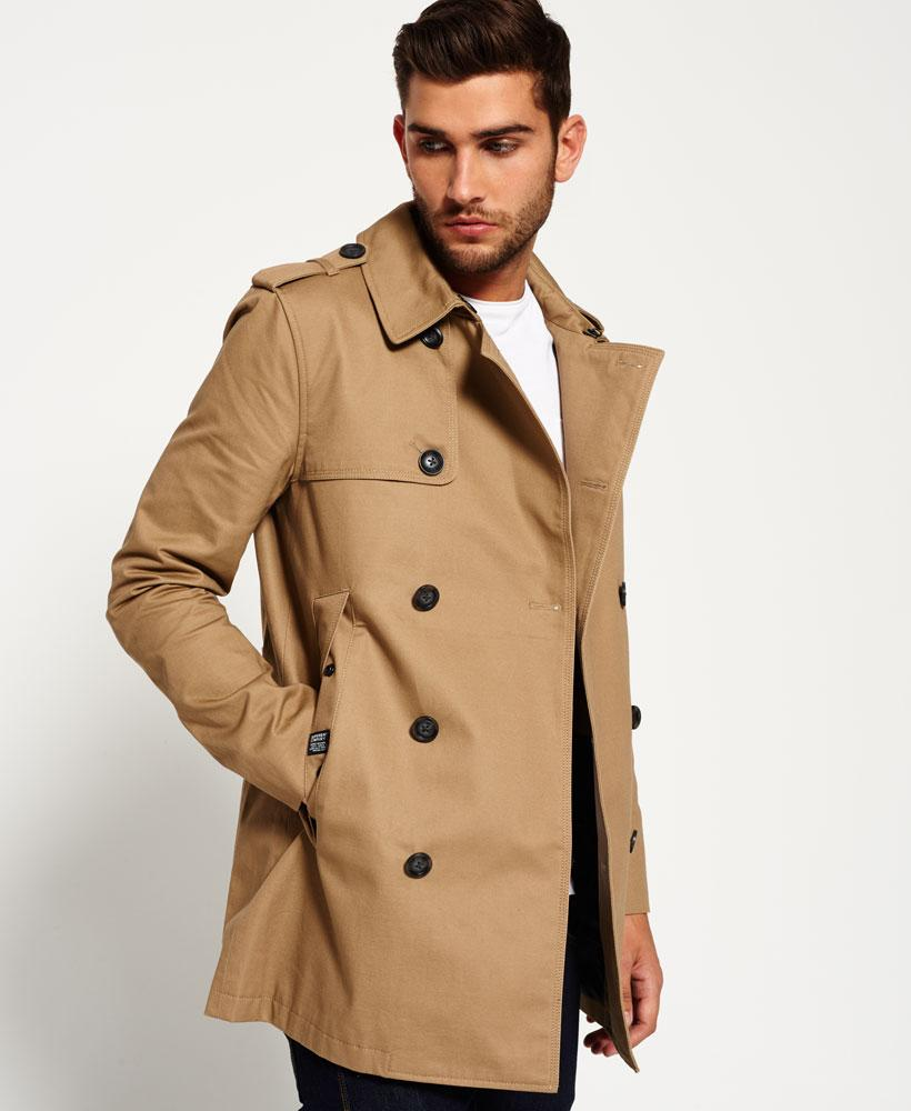 superdry winter rogue trench coat for men lyst