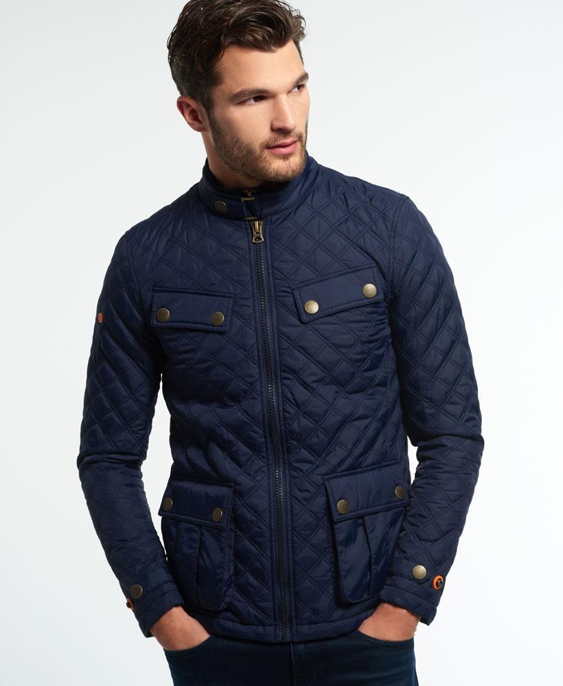 Superdry Apex Quilt Jacket In Blue For Men Lyst