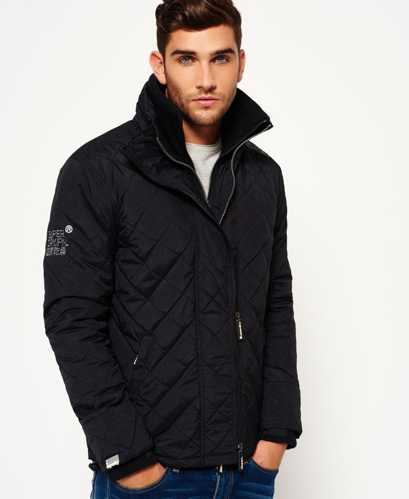 Superdry: Superdry Quilted Arctic Windcheater Jacket In Black