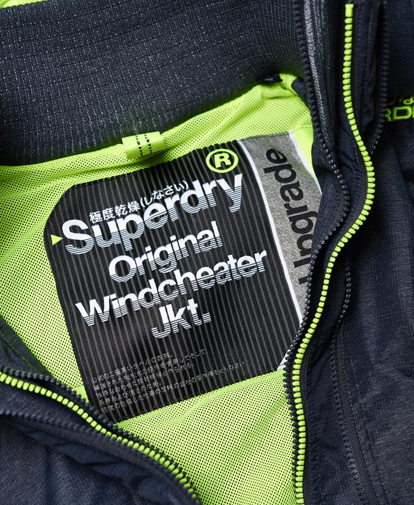 Superdry Synthetic Pop Zip Hooded Technical Windcheater Jacket in Blue for Men