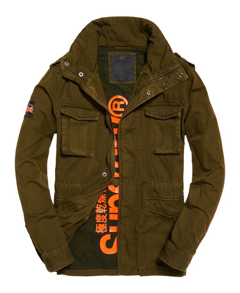 Superdry Rookie Military Jacket In Green For Men