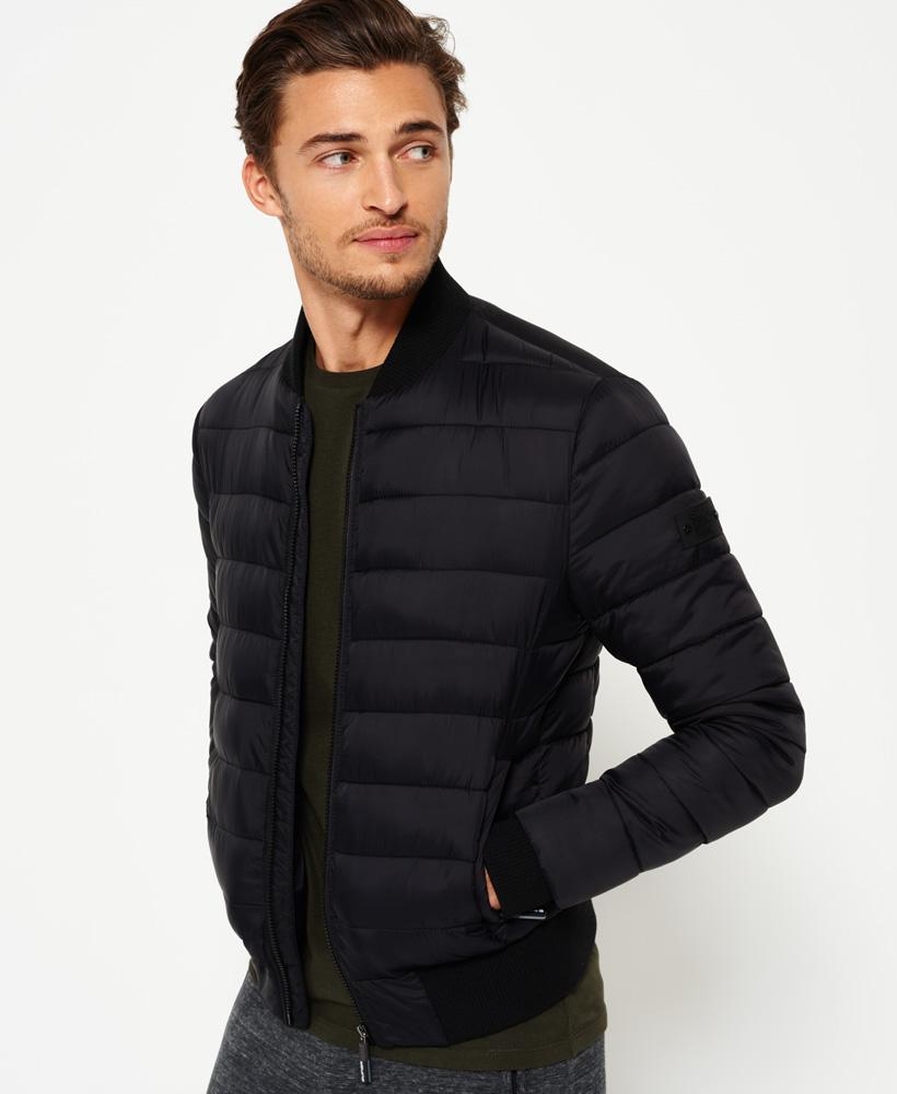superdry fuji bomber jacket in black for men lyst. Black Bedroom Furniture Sets. Home Design Ideas