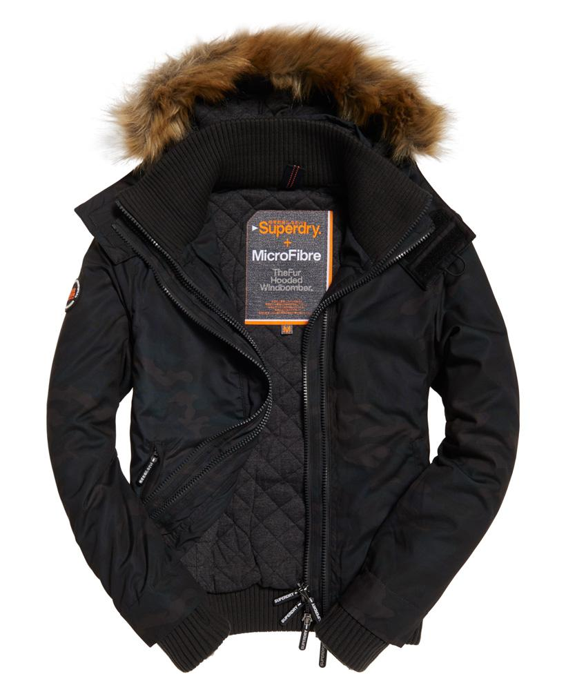 Superdry Synthetic Microfibre Windbomber Jacket In Camo