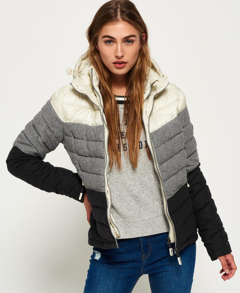 Pick A Best Online Slick Fuji Chevron Hooded Jacket Superdry Cheap Sale Ebay vDto7pw