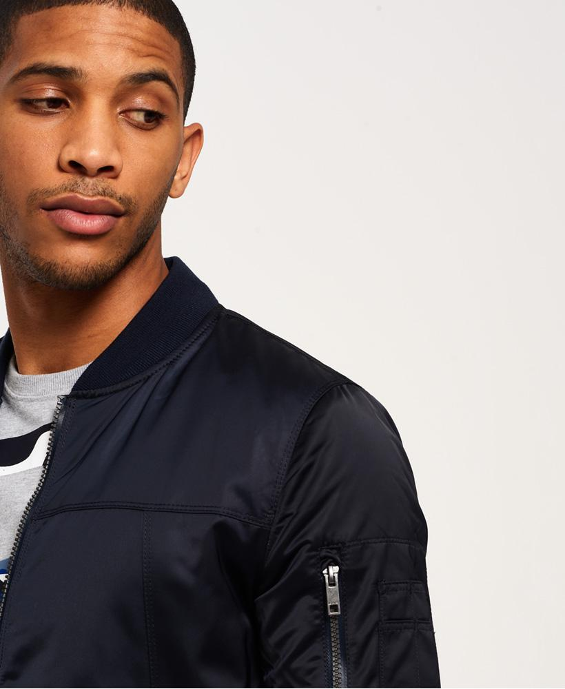 Superdry Synthetic Ie Iconic Bomber Jacket in Navy (Blue) for Men