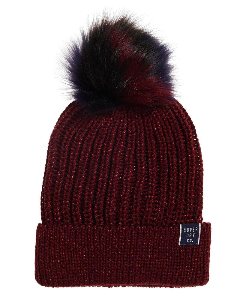 Superdry Aries Sparkle Beanie in Purple - Lyst 3b870bf6a891
