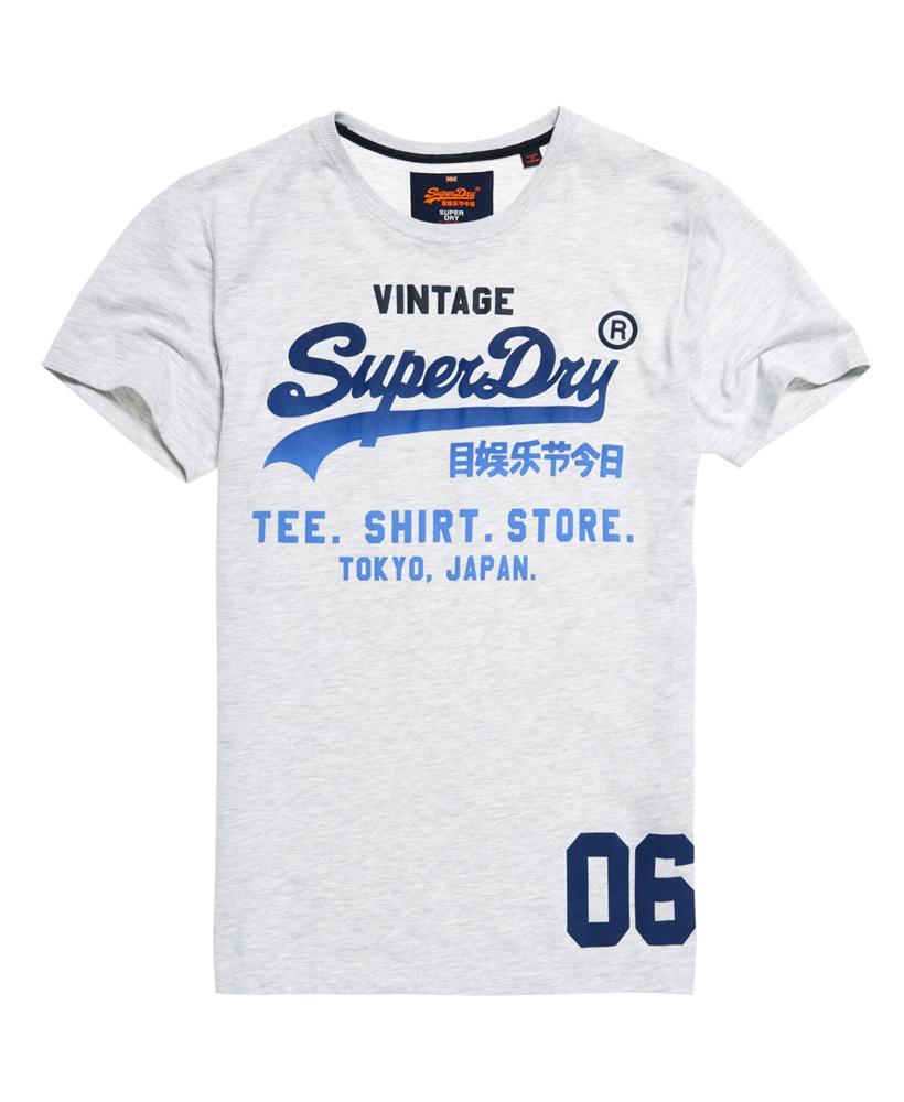 lyst superdry shirt shop fade t shirt in blue for men. Black Bedroom Furniture Sets. Home Design Ideas