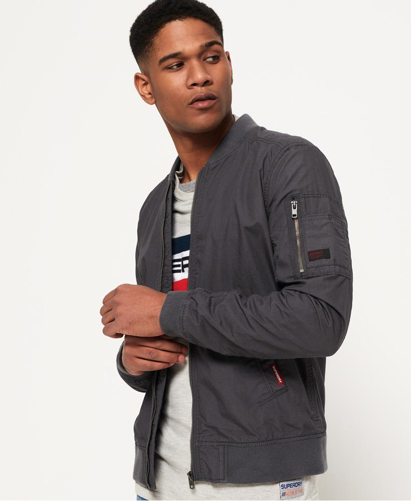 Superdry Rookie Duty Bomber Jacket In Gray For Men