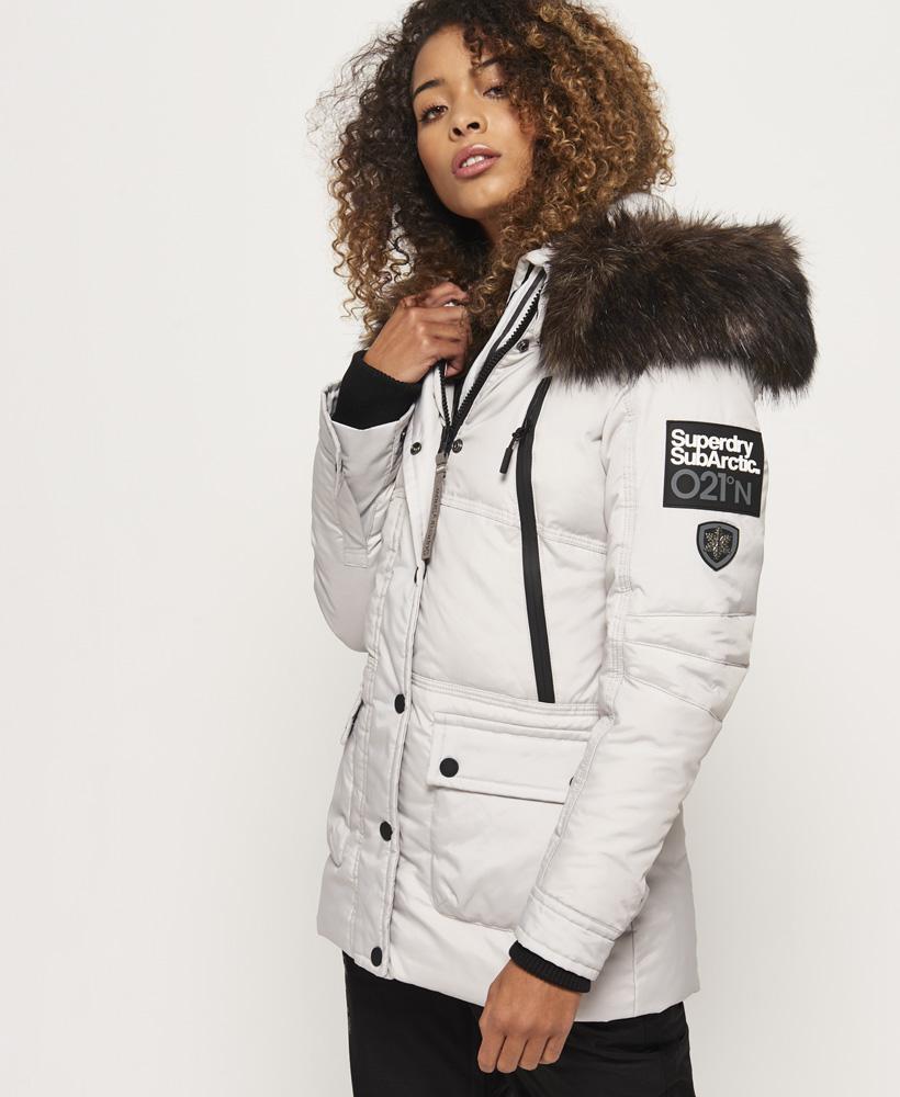 WOMENS SUPERDRY CANADIAN Down Ski Parka Jacket Coat rrp £195
