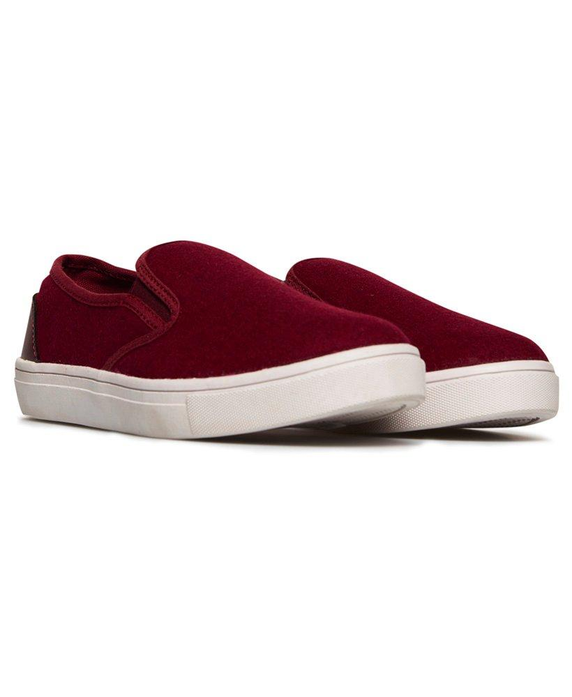Superdry Core Slip On Sneakers in Red