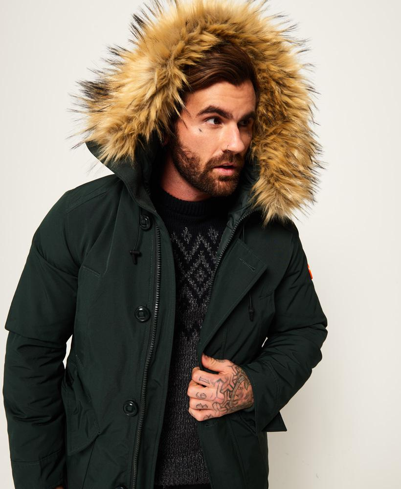Superdry Rubber Rookie Down Parka Jacket for Men