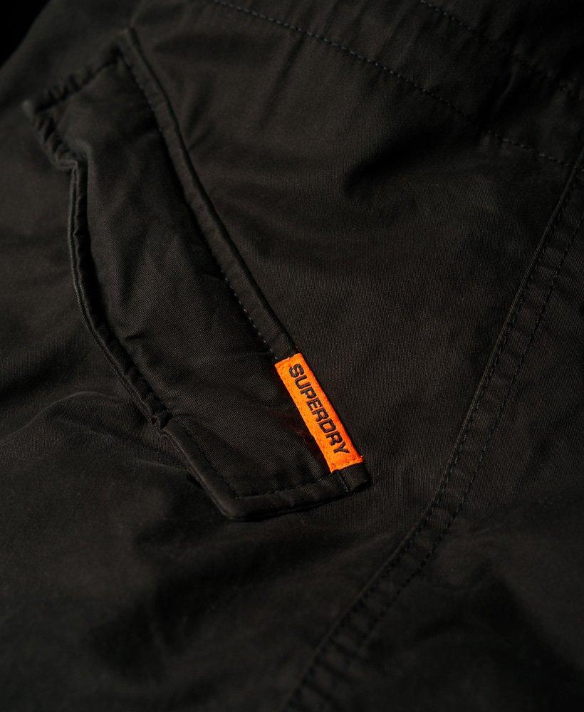 Superdry Fleece Rookie Military Parka Jacket in Black for Men