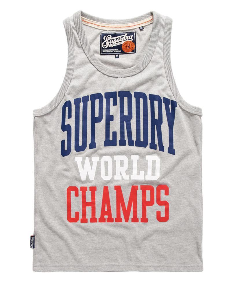 Superdry World Champs Vest Top in Light Grey (Grey) for Men