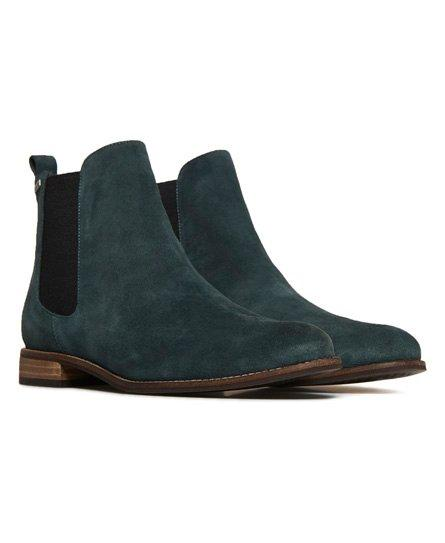 Superdry Millie-lou Suede Chelsea Boots in Green