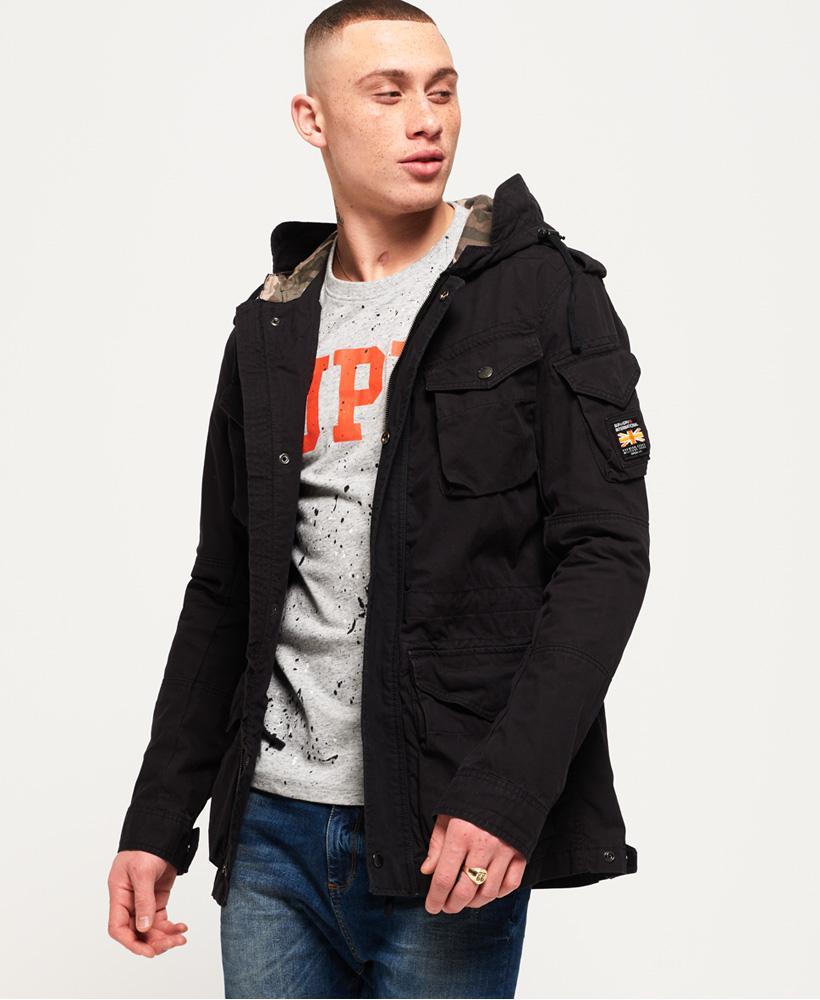 Superdry Rookie Para Parka Jacket In Black For Men