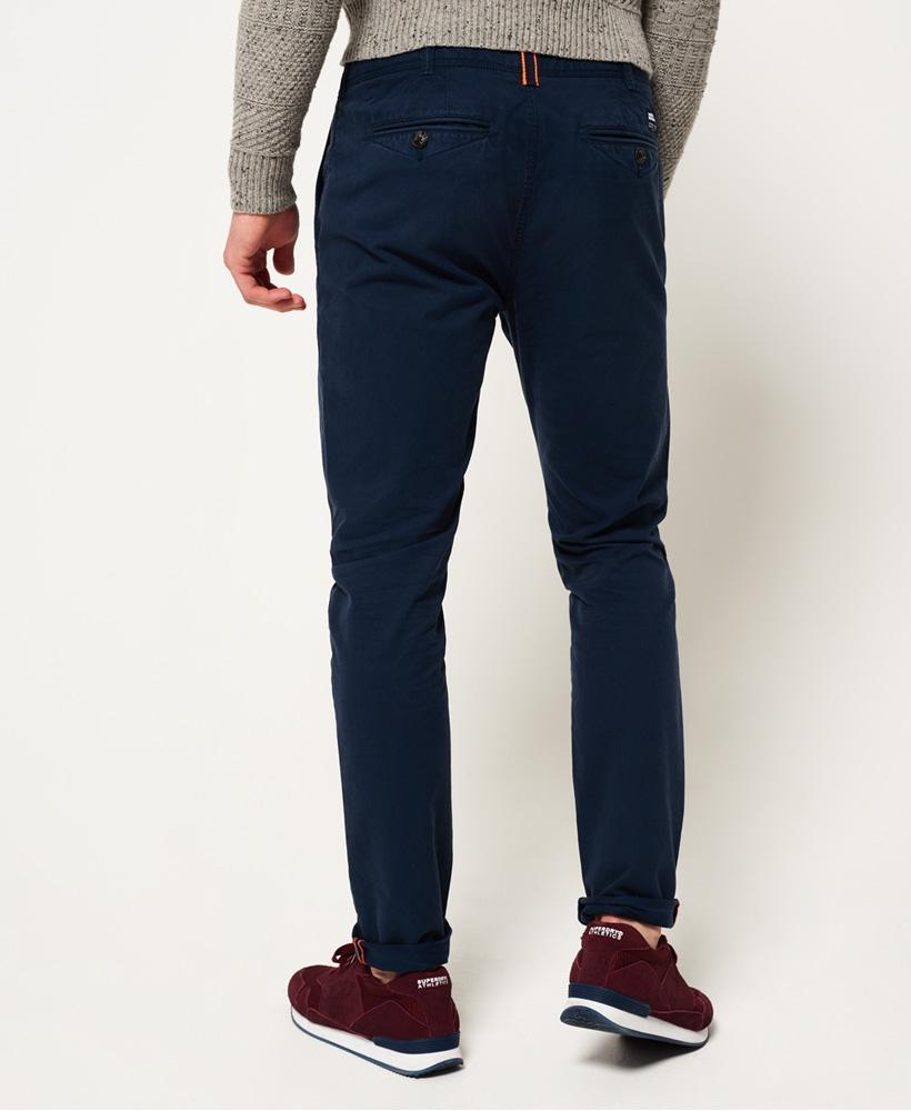 Superdry Rookie Chino Trousers In Blue For Men
