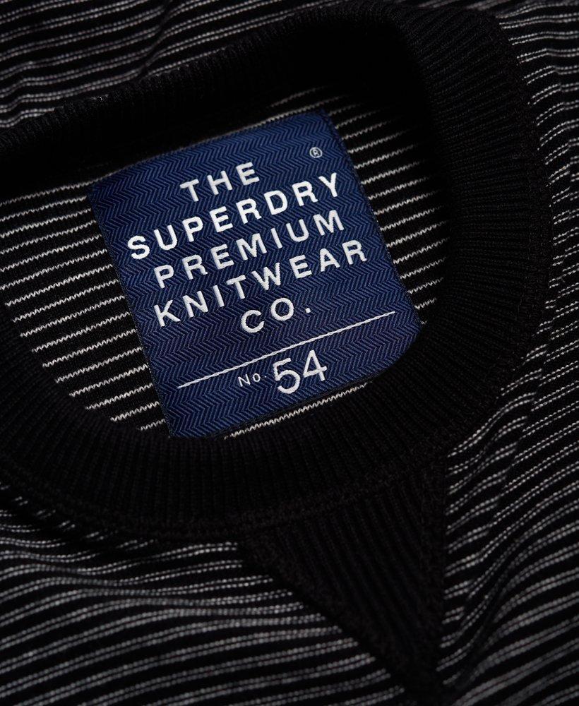 Superdry Cotton Gymnasium Stripe Crew Neck Jumper in Black for Men