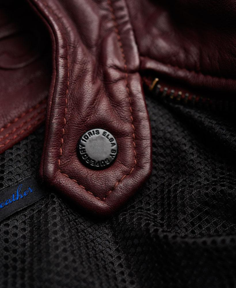 Superdry Racer Lite Leather Jacket in Red for Men
