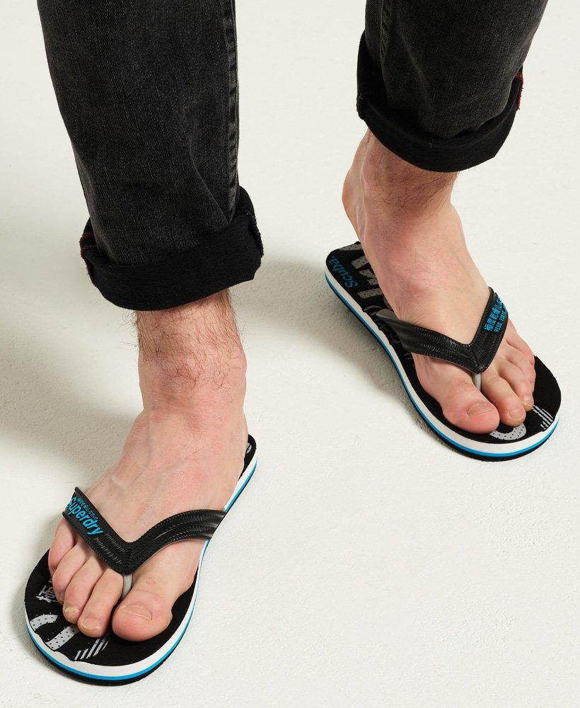 Superdry Men/'s Scuba Perforated Flip Flops Black