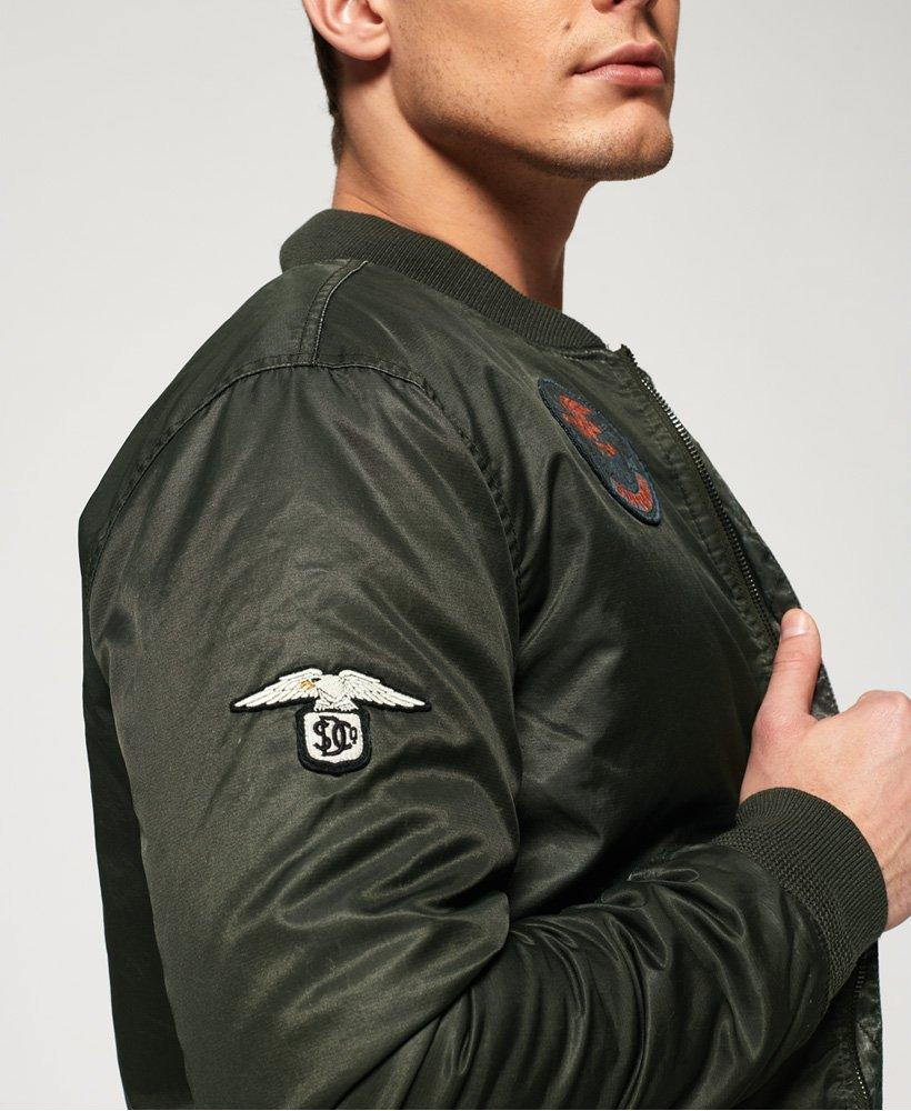 Superdry Synthetic Limited Edition Flight Bomber Jacket in Green for Men