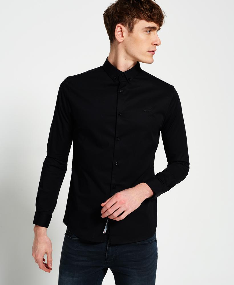 Superdry Tailored Slim Fit Shirt In Black For Men - Lyst