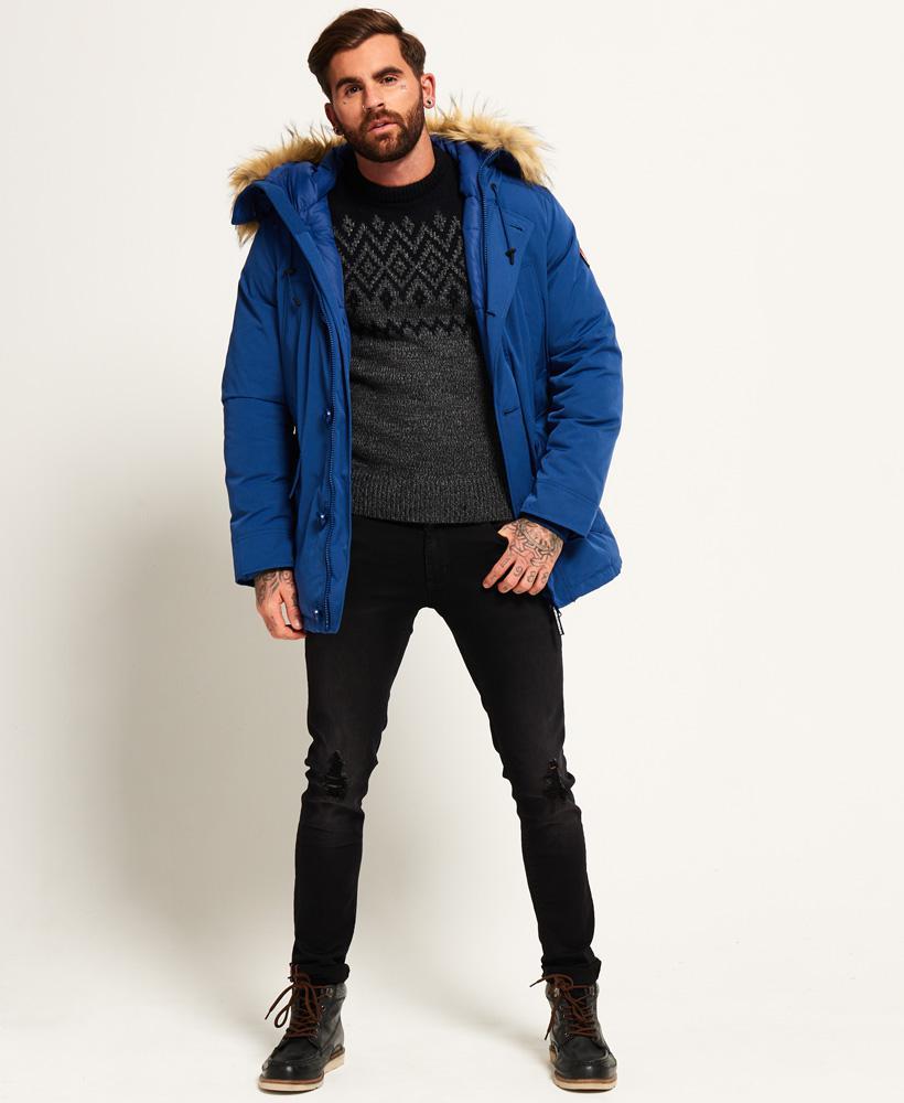 Superdry Rookie Down Parka Jacket In Blue For Men