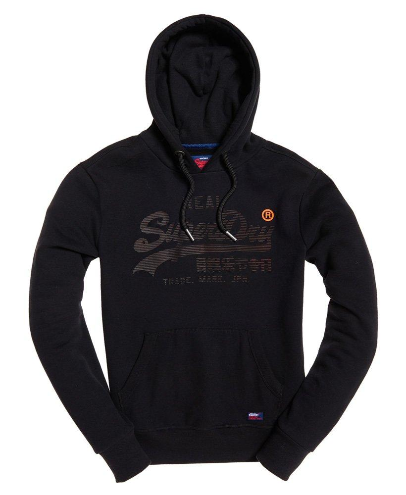 8648da467b4 Superdry Real Logo 1st Hoodie in Black for Men - Lyst