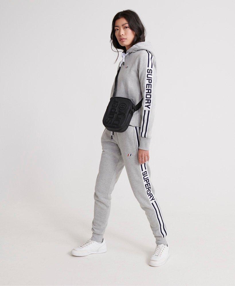 Sudadera deportiva con capucha y monograma Modern de la colecció Superdry de color Gris