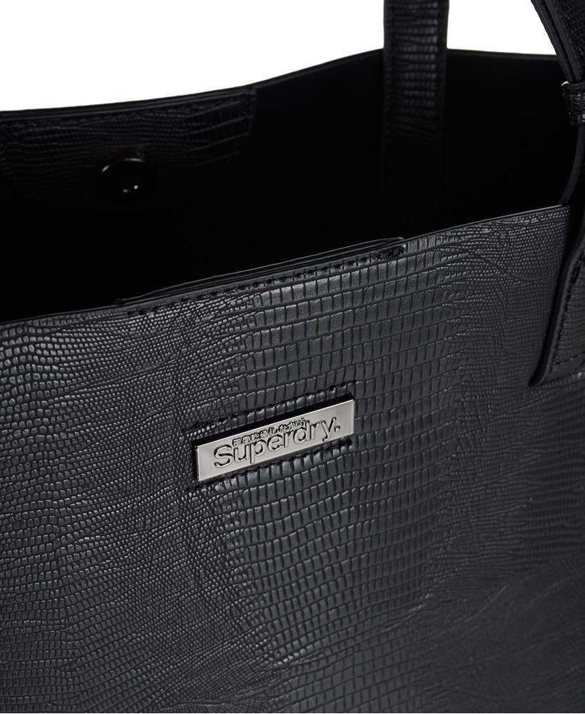 Superdry Leather Olivia Tote Bag in Black