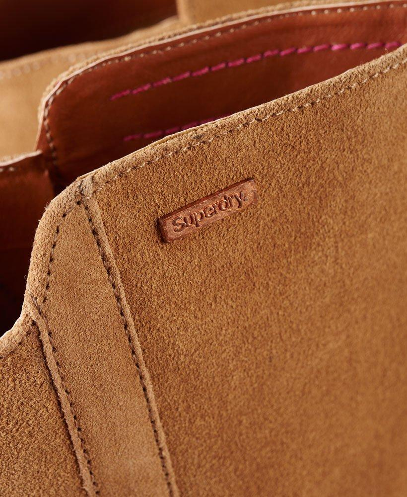 Superdry Suede Layla Knee High Boots in Brown