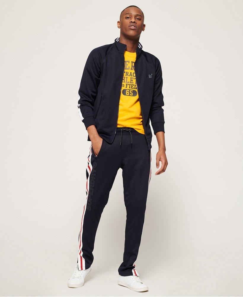New Mens Superdry Lineman Slim Fit Track Top Track Black