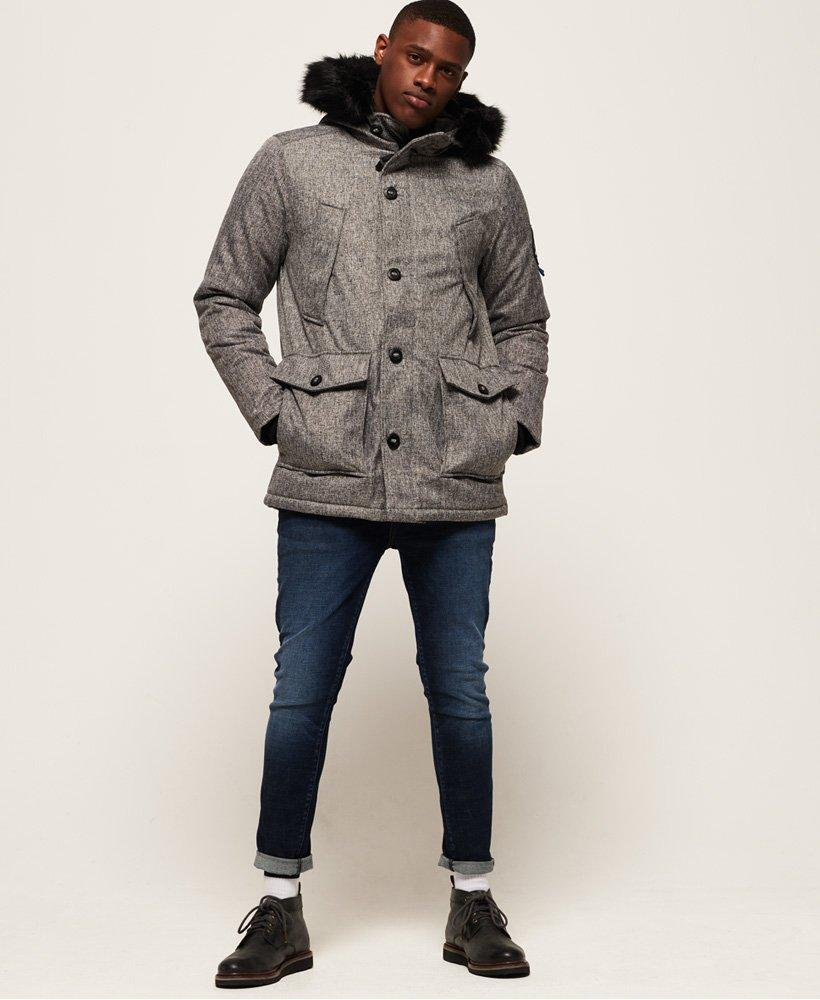 Jacket In For Tweed Men Everest Gray Superdry Parka Lyst IPnXOx