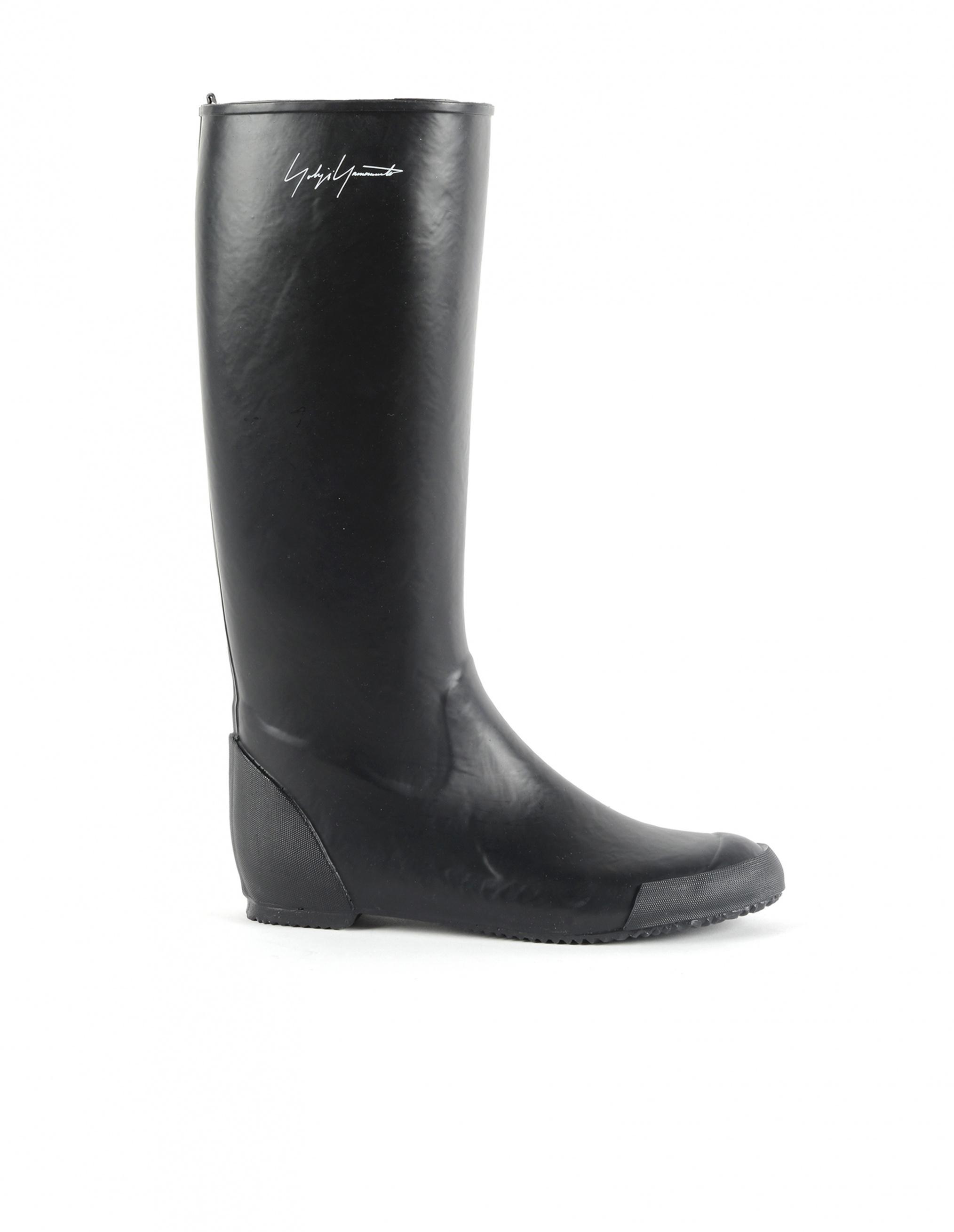 bdba0a12833bb Yohji Yamamoto Rubber Boots in Black - Lyst
