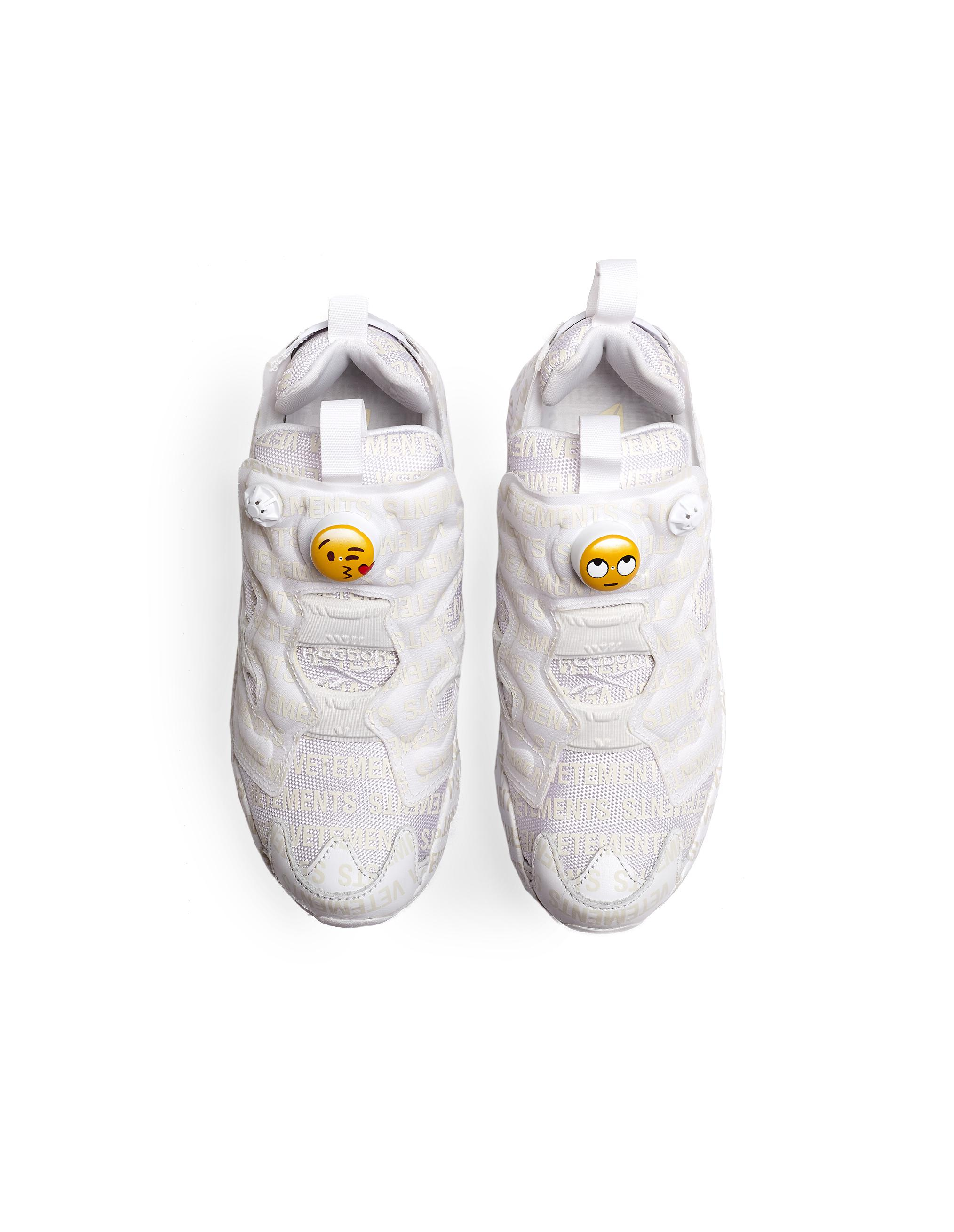 fbb18dd58719c3 Lyst - Vetements Reebok Instapump Fury Emoji Sneakers in White