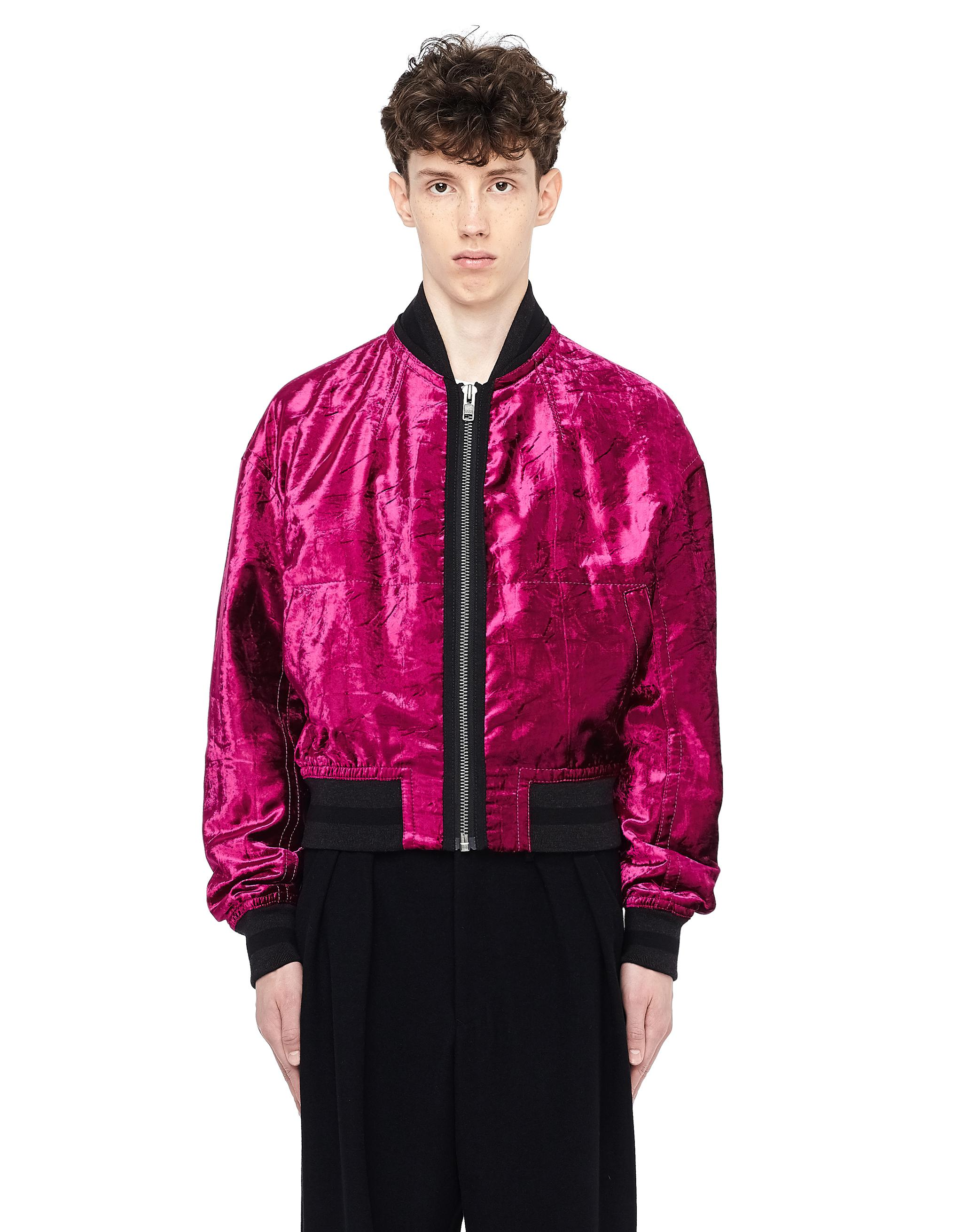 c33b07c2a Haider Ackermann Purple Velvet Striped Bomber Jacket for men