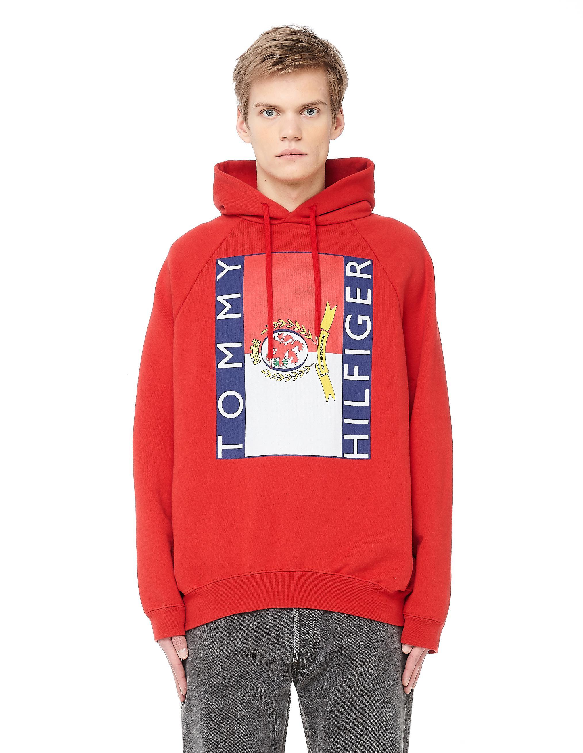vetements tommy hilfiger hoodie red