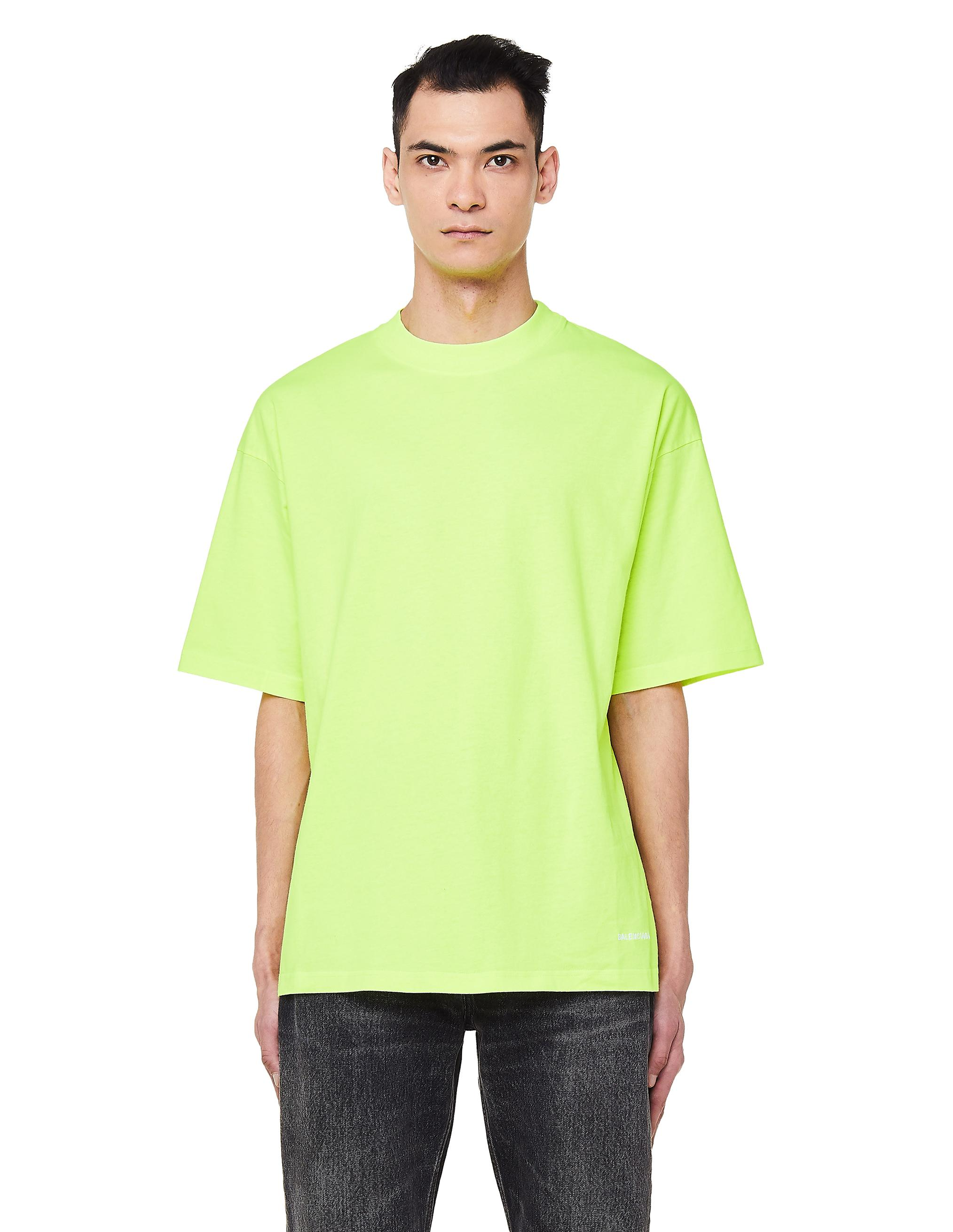 bc0c700d Balenciaga Neon Yellow Cotton T-shirt in Yellow for Men - Lyst