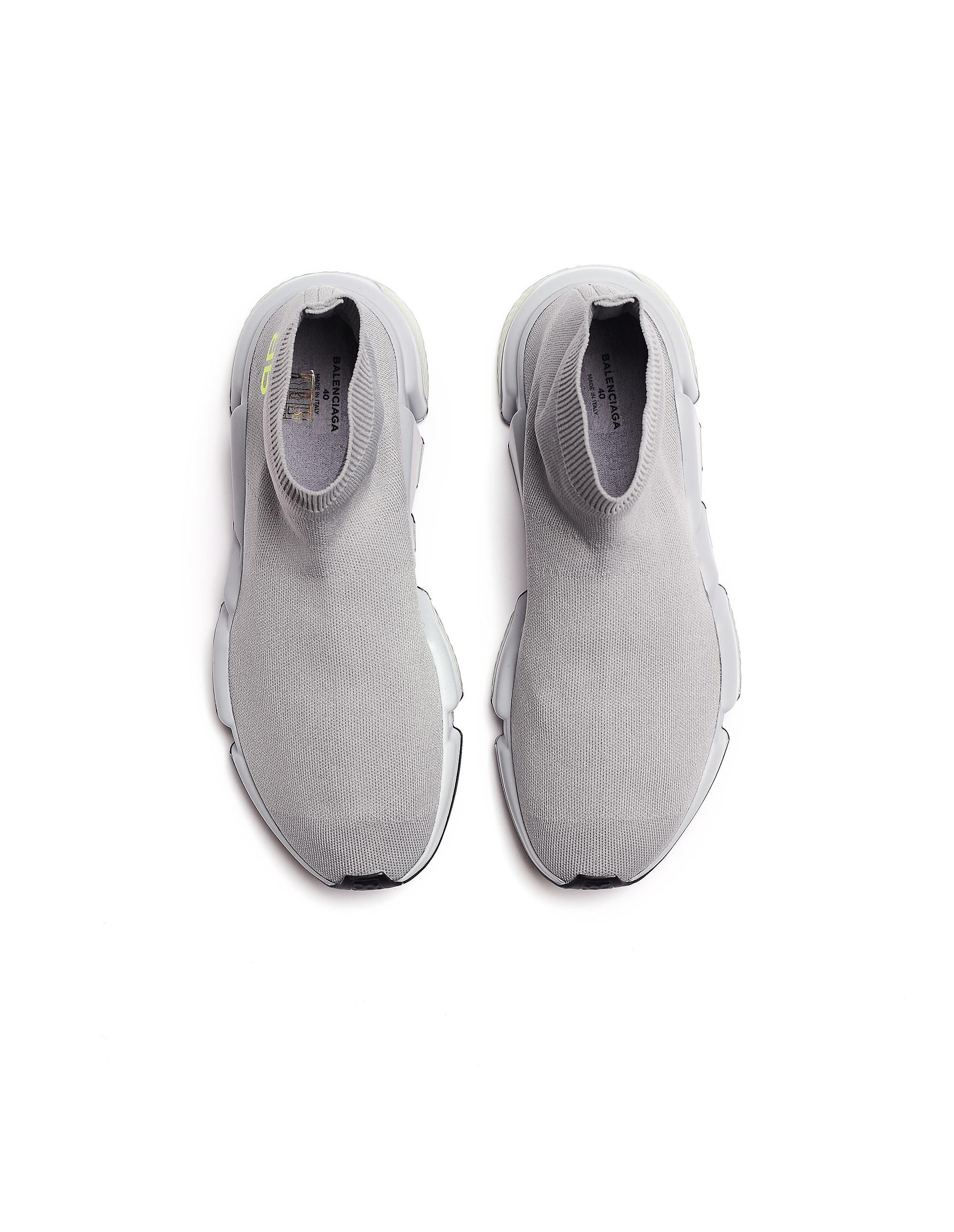 8ddfe1916a1f Lyst - Balenciaga Speed High Top Sock Trainers in Gray - Save 30%