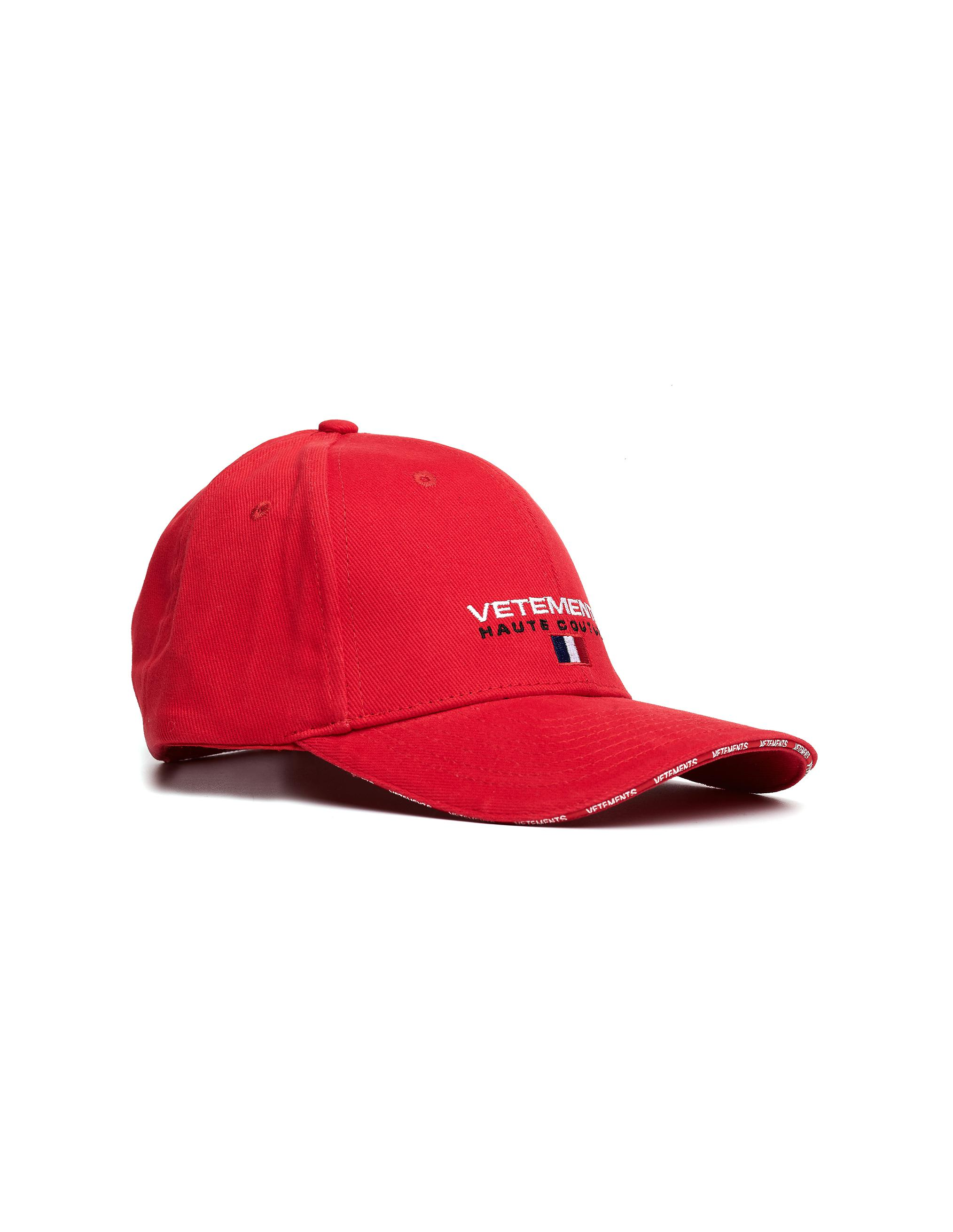 Mens Haute Couture-Embroidered Cotton Baseball Hat VETEMENTS 645jx3owgK