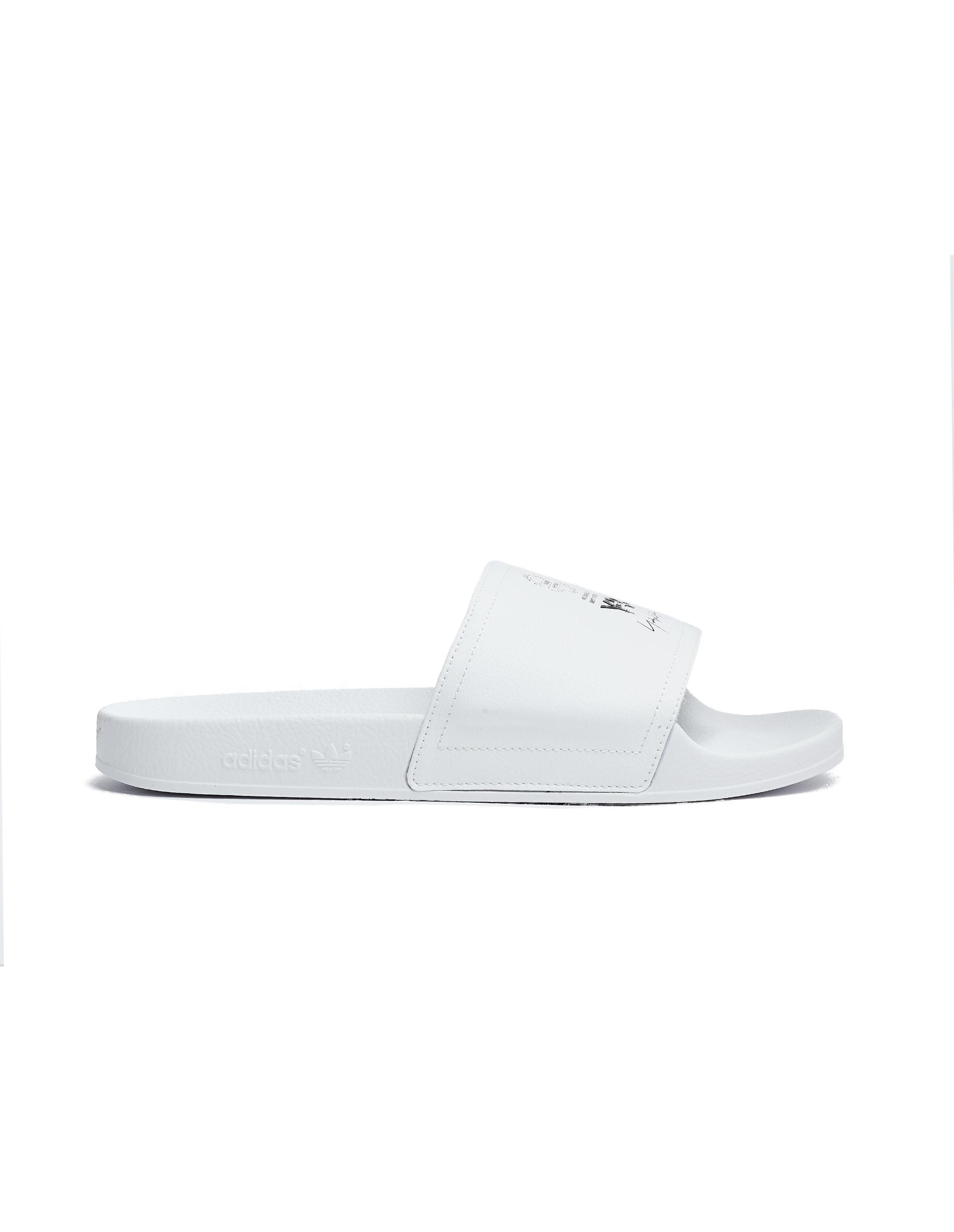 Y-3 White Leather Adilette Slides xoutEoDfE3