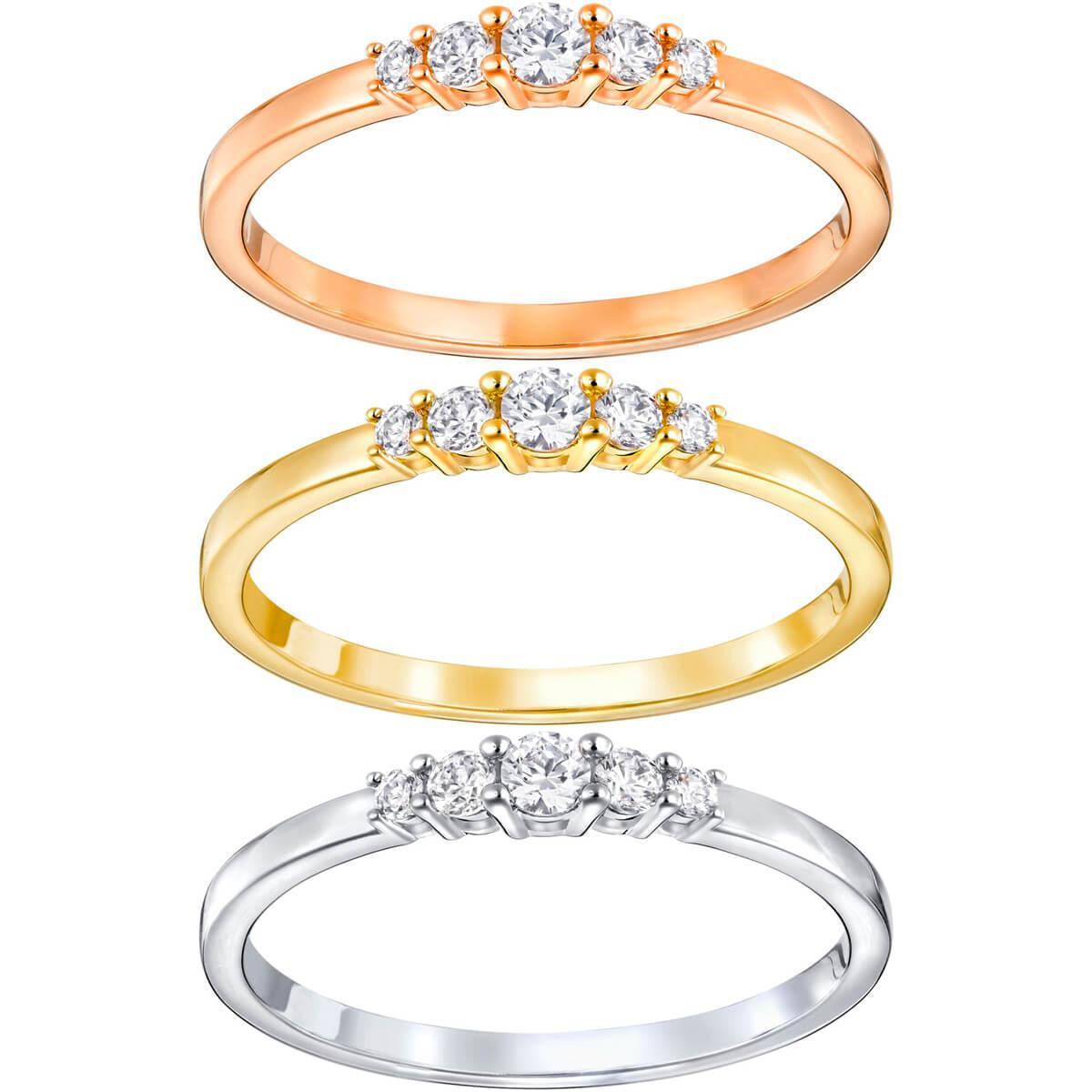 Lyst - Swarovski Frisson Ring Set in Metallic 2672e67cf094