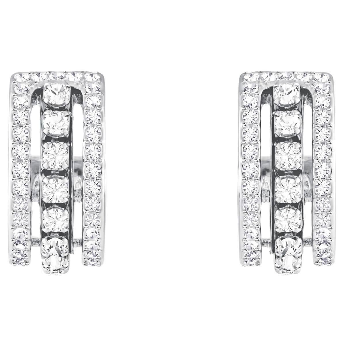 9966eeec8 Lyst - Swarovski Further Pierced Earrings in White