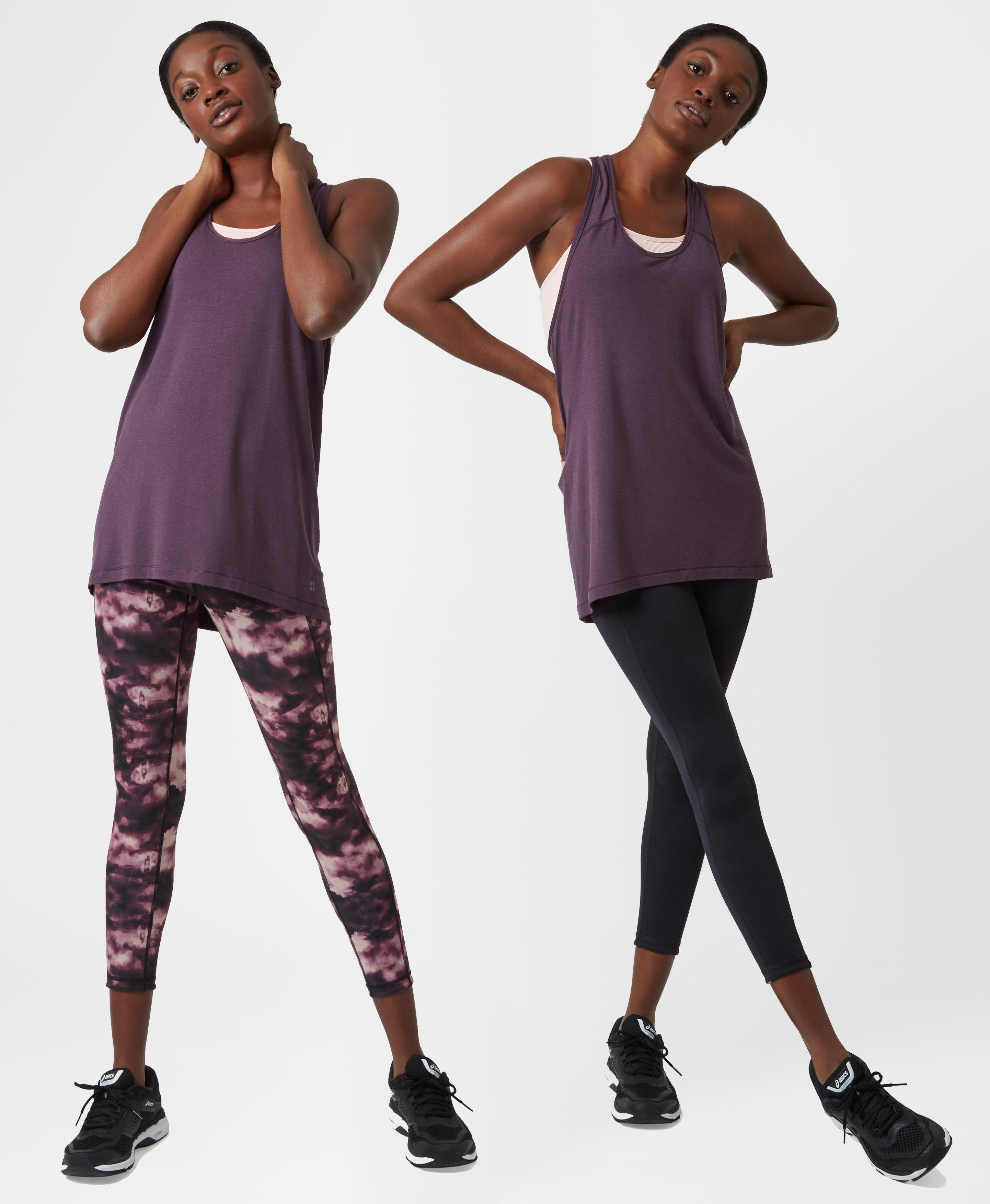 9fa168fde9423 Sweaty Betty Reversible 7/8 Yoga Leggings in Purple - Lyst