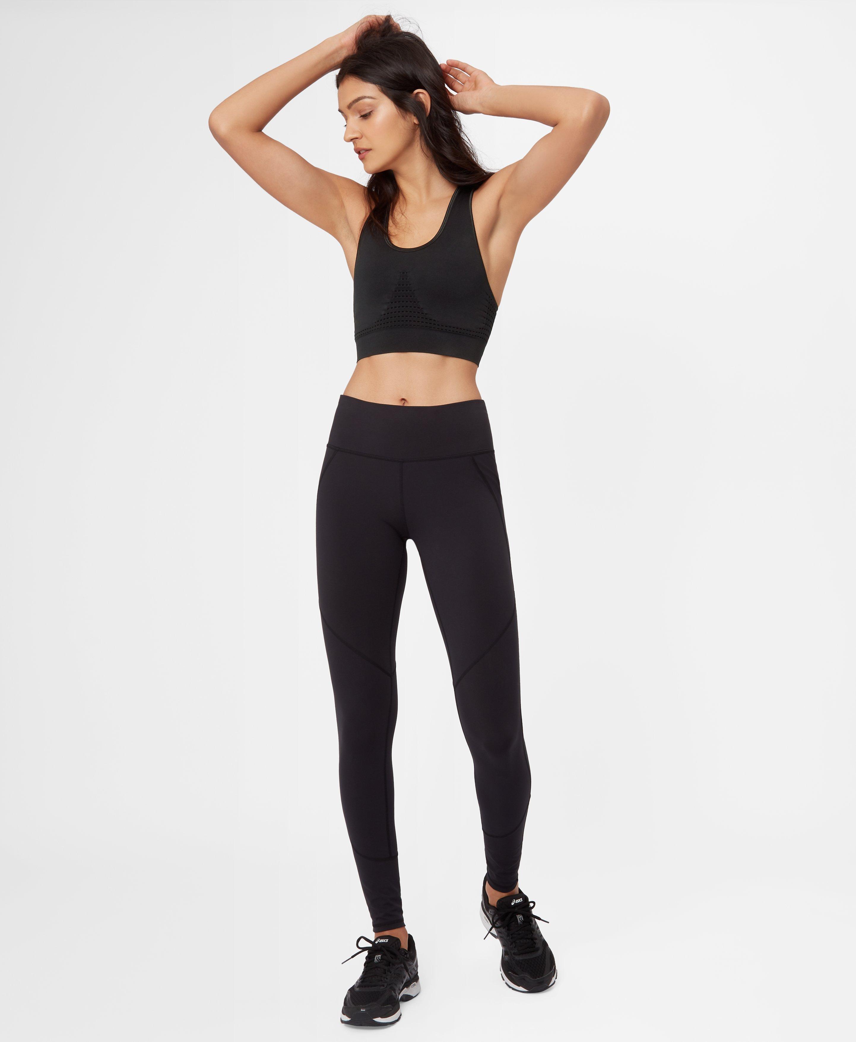 5d7df2135c83e Lyst - Sweaty Betty Stamina Workout Bra in Black